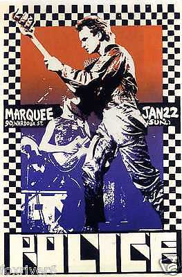 THE POLICE Concert Flyer / Handbill - Marquee Club 1978 - Reprint