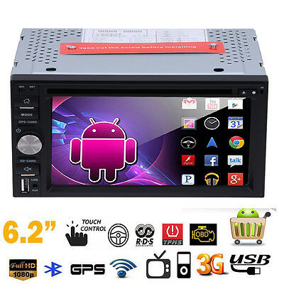 """Double 2din 6.2"""" Android5.1 Car 3G GPS Stereo Radio DVD WIFi Nav Bluetooth Touch"""
