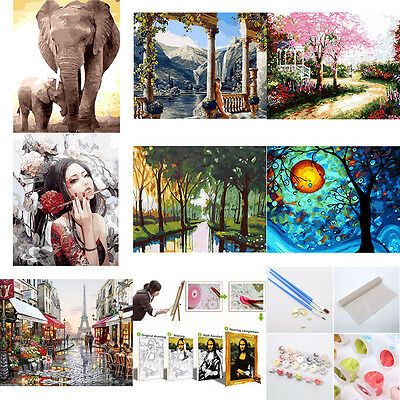 1Pcs DIY Digital Oil Painting Kit Paint by Numbers on Canvas Home Decor