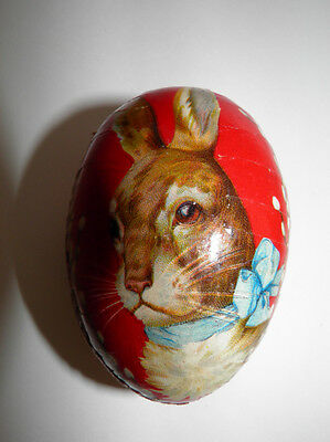 Small Vintage Papier Mache Easter Egg Candy Container - Made In Germany - Bunny