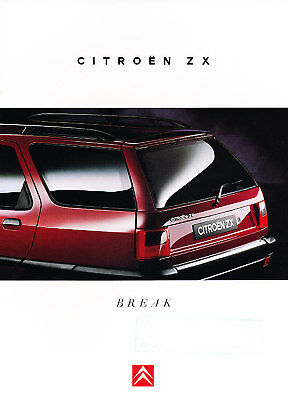 1995 1996 Citroen ZX German Prospekt Sales Brochure
