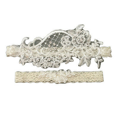 Great Garter Lace Heart Accent Wedding Keep & Toss Away Garter Set 1 Pair