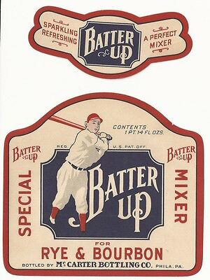 1930's Batter Up Special Mixer Label - Philadelphia, PA - Baseball Player