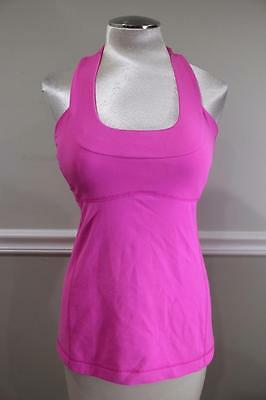 Lululemon Athletica Women's Pink Scoop Neck Tank Top Size M (lu100