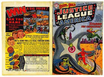 Facsimile reprint covers only to BRAVE AND THE BOLD #28 (1960) Justice League
