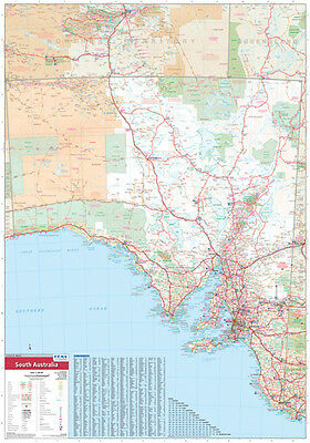"South Australia State Map Poster ""ROAD GUIDE"" WALL CHART Size 70 cm X 100 cm"