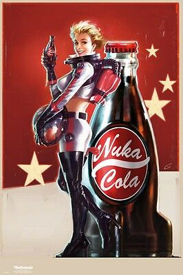 "FALLOUT 4 POSTER ""Nuka Cola"" LARGE SIZE 61 cm X 91.5 cm"
