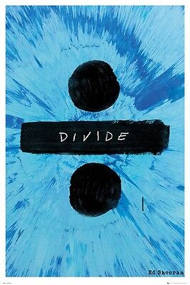"ED Sheeran Poster ""Divide"" brand new large size 61cm X 91.5 cm"