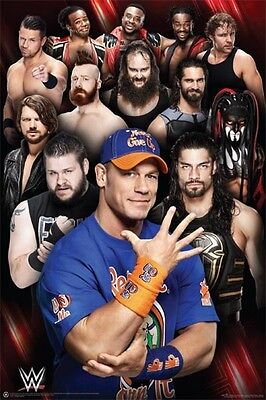 "WWE Superstars POSTER  ""OFFICIAL"" JOhn Cena, Kevin Owens, Roman Reigns"""