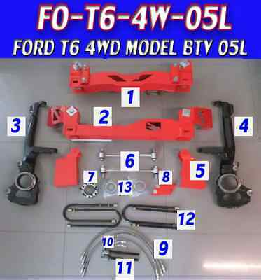 """FORD RANGER PX 4WD 2012/2016  5"""" inch  Heavy Duty suspension lift kit."""
