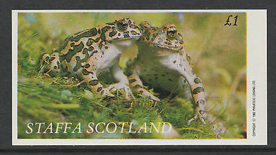 GB Locals - Staffa 3505 - 1982 FROGS imperf souvenir sheet  unmounted mint