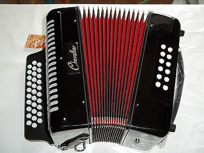 Accordeon D'etude Diatonique Chevallier 12 Basses Noir - Neuf - Garantie 1 An