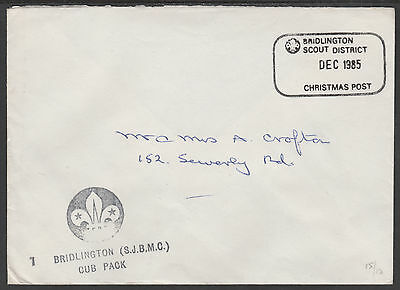 GB 3496 - 1985 Christmas Post - COVER CARRIED BY SCOUTS