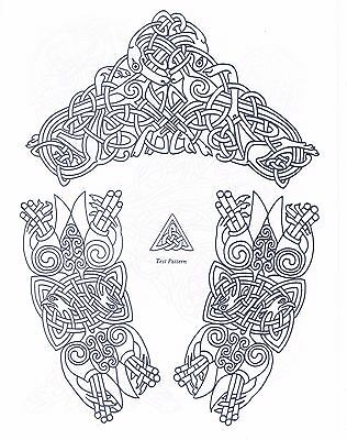 Celtic Knot Designs ~ Iron-on Embroidery Transfer Pattern 26