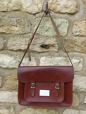 Vintage Leather Satchel with Long Carrying Strap