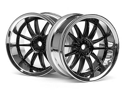 HPI Work Xsa 02c Wheel 26mm Chrome/black (6mm Offset) #3287