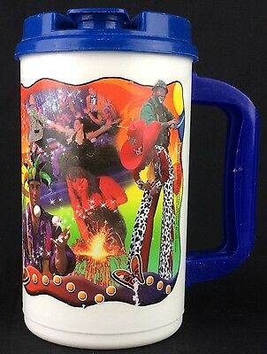 Large Vintage Dollyworld Lidded Plastic Travel Cup 2003 Dolly Parton