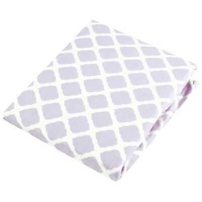 Kushies Playpen Fitted Sheet - Lilac Lattice