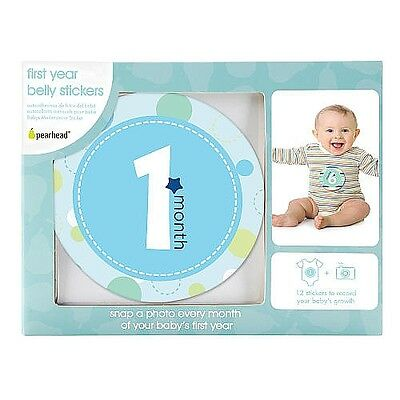 Pearhead Belly Sticker, Blue - English