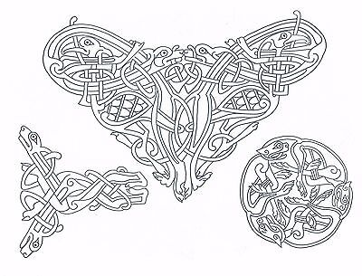 Celtic Knot Designs ~ Iron-on Embroidery Transfer Pattern 27