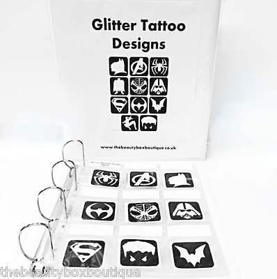 Professional Glitter Tattoo Storage Folder - Organize And Display your Stencils