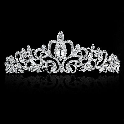 Wedding Bridal Tiara Rhinestone Crystal Queen Crown Pageant Prom Headband Gifts