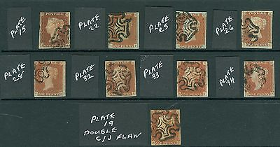 SG 8 1d red Brown plated selection fine used Full margins condition mixed