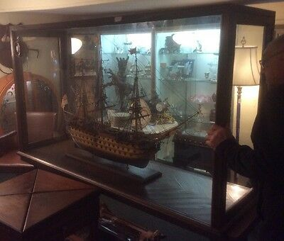 Vintage H.M.S. Victory Model Ship, Museum Quality  Handcrafted HIGH QUALITY RARE