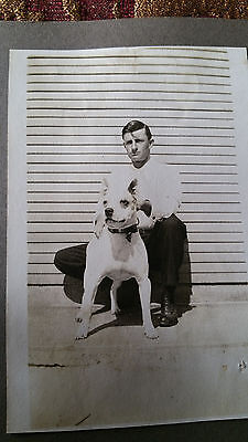 Vintage Photo Man & Pit Bull1930s-40s