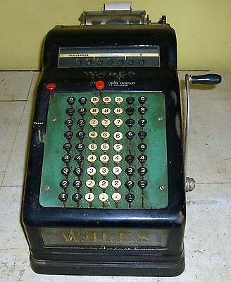 Antique WALES Visible Adding Machine Glass Sides RARE L@@K !!!!!