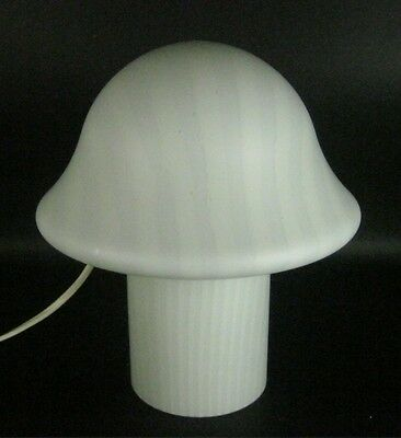 Peill & Putzler Glas Lampe / Tischlampe / Pilzlampe Glass Table Lamp 25cm