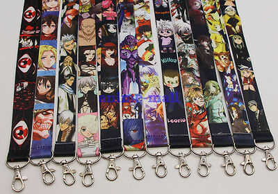 Lot Japanese Anime Cartoon Lanyard Neck Strap Badge ID Running Holder Key Chains