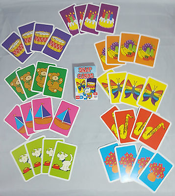 Kids Snap Pairs Cards Classic Memory Early Learning Game 3+ Bright Colour