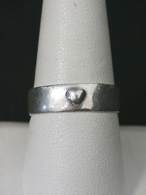 Vintage Sterling Silver Heart FAITH Band Ring Size 8.75 Make Offer! #355