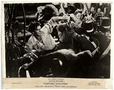 Captain Caution Original British Lobby Card 1940 Victor Mature Fight Scene