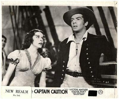 Captain Caution Original British Lobby Card 1940 Victor Mature Louise Platt Rare