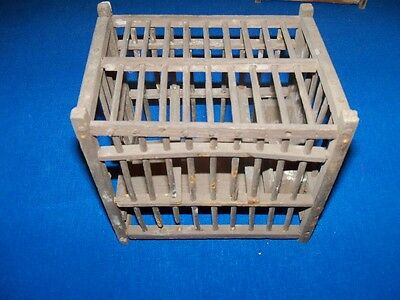 Antique Wooden Coal Mine Mining Canary Bird Cage