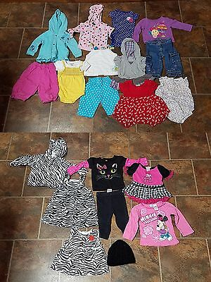 Huge Lot of 20 Baby Infant Girl Clothes Size 12 months