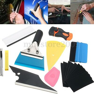 10 in1 Professional Car Window Film Tint Tools Kit Wrap Application Squeegee
