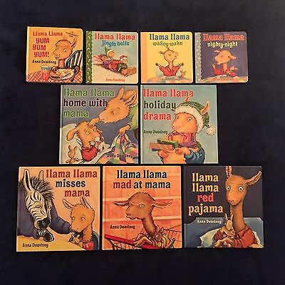 Lot of 9 Children's Picture Books by Anna Dewdney: Llama Llama Series