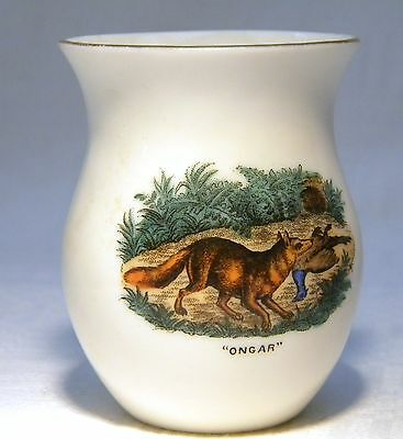 GOSS CRESTED CHINA COLOUR TRANSFER FOX & PhEASANT  ONGAR / ESSEX (B21)