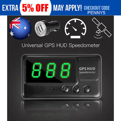 2017 Universal GPS HUD Digital Head Up Display Car Speeding Warning Plug&Play AU