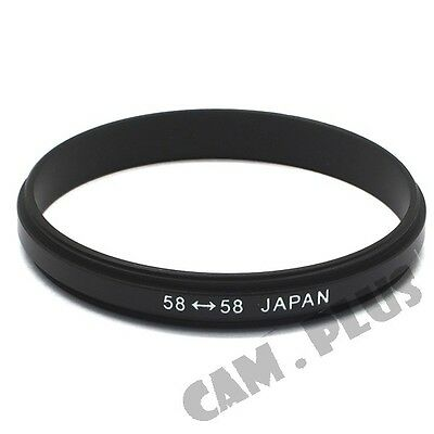Male 58mm to 58mm 58-58mm Macro Reverse Adapter Ring