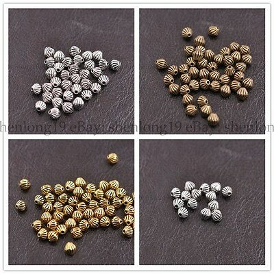50/100Pcs Tibetan Silver Round Charm Spacer Beads 5X5MM E3138
