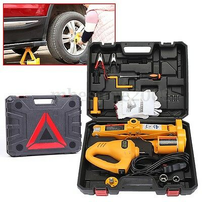 12V Electric 2T Scissor Lifting Jack  Car Impact Wrench Tire Replace Repair Tool