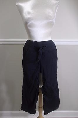 Lululemon Athletica Women's Black Long Capri Dance Pants Size S (lu100