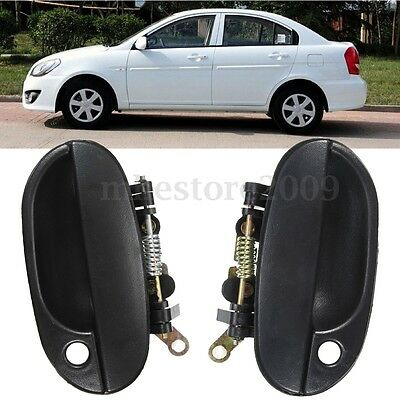 95-99 Car Outside Front Door Handle Fear Left Right For 1995-1999 HYUNDAI Accent