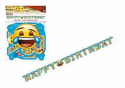 Emoji Banner 6Ft Jointed Letters Happy Birthday Decoration Smiley Face 50623