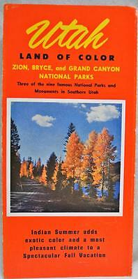 UTAH SOUVENIR TRAVEL & TOURISM INFORMATIONAL BROCHURE GUIDE 1950s VINTAGE