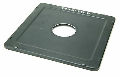 Toyo-View Flat Lens Board 158x158mm #1 With Hole 42mm & Logo. Fits Omega. Ex.